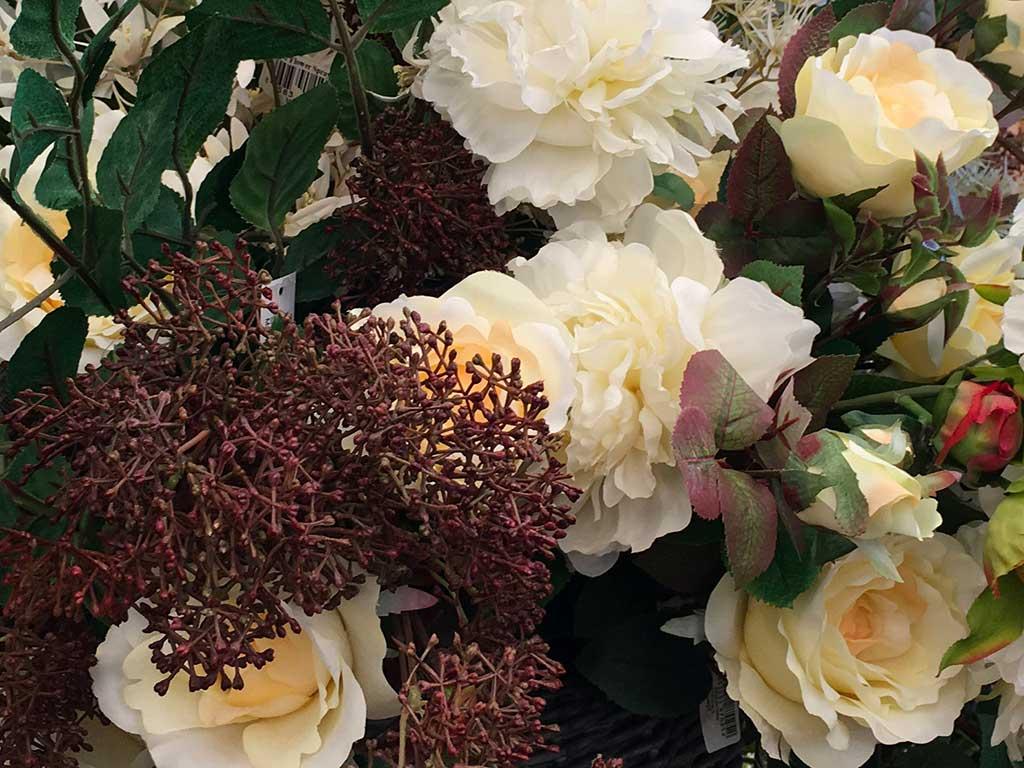 Vaso Con Ortensie Finte compagnia delle piante ornamentali   piante artificiali